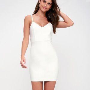 👗 [Lulus] white mini dress cocktail